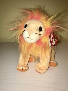 521a6e37e12 Image is loading Ty-Original-Beanie-Baby-Bushy-The-Lion-Retired-