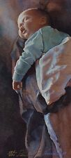 "Steve Hanks, ""Sleeping Newborn"", Ltd ed offset litho, 14.25""h x 6.5""w image,1995"