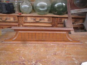 Ancien Fronton Meuble Bois France Ornement Patine Decoration