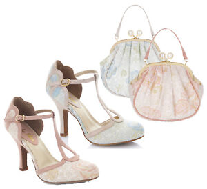 Ruby Shoo Polly High Slim Heel Ankle Strap Sandal Shoes Add Matching Bag Lima
