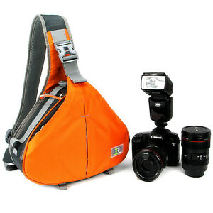 Caseman AOS1 DSLRSLR Camera Bag Waterproof Orange Shoulder messenger Case tripod