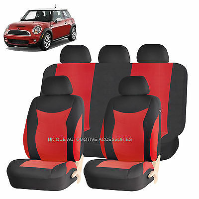 RED SPEED AIRBAG COMPATIBLE SEAT COVER SET for MINI COOPER