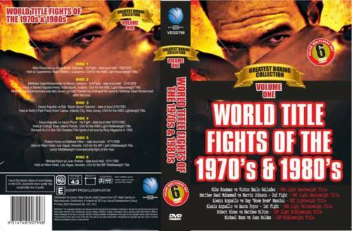 WORLD TITLE FIGHTS 1970's & 1980's-6 DVD SET BOXING DVD - ON SPECIAL