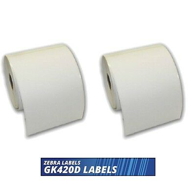 1000 etichette 100 mm x 150 mm per stampante Zebra GK420D GX420D GK420T 6 x 4 etichette termiche dirette bianche 2 rotoli