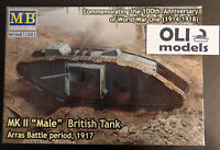1/72 Wwi Mk Ii male British Tank Arras Battle Period 1917 - Master Box 72005