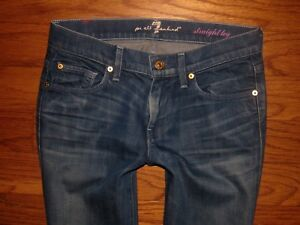 basse à et All 7 Jeans Mankind For jambe stretch droite taille C6wFUvq