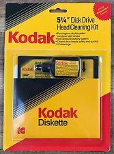 "Kodak 5.25"" Floppy Disk Drive Head Cleaning Kit 12 Cleanings New Sealed"