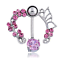 Women-Pink-Shine-Crystal-Flower-Belly-Ring-Navel-Studs-Body-Piercing-Jewelry thumbnail 1