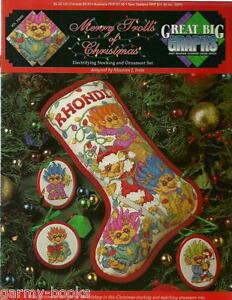 Merry-Trolls-of-Christmas-Stocking-Great-Big-Graphs-Cross-Stitch-Pattern-NEW