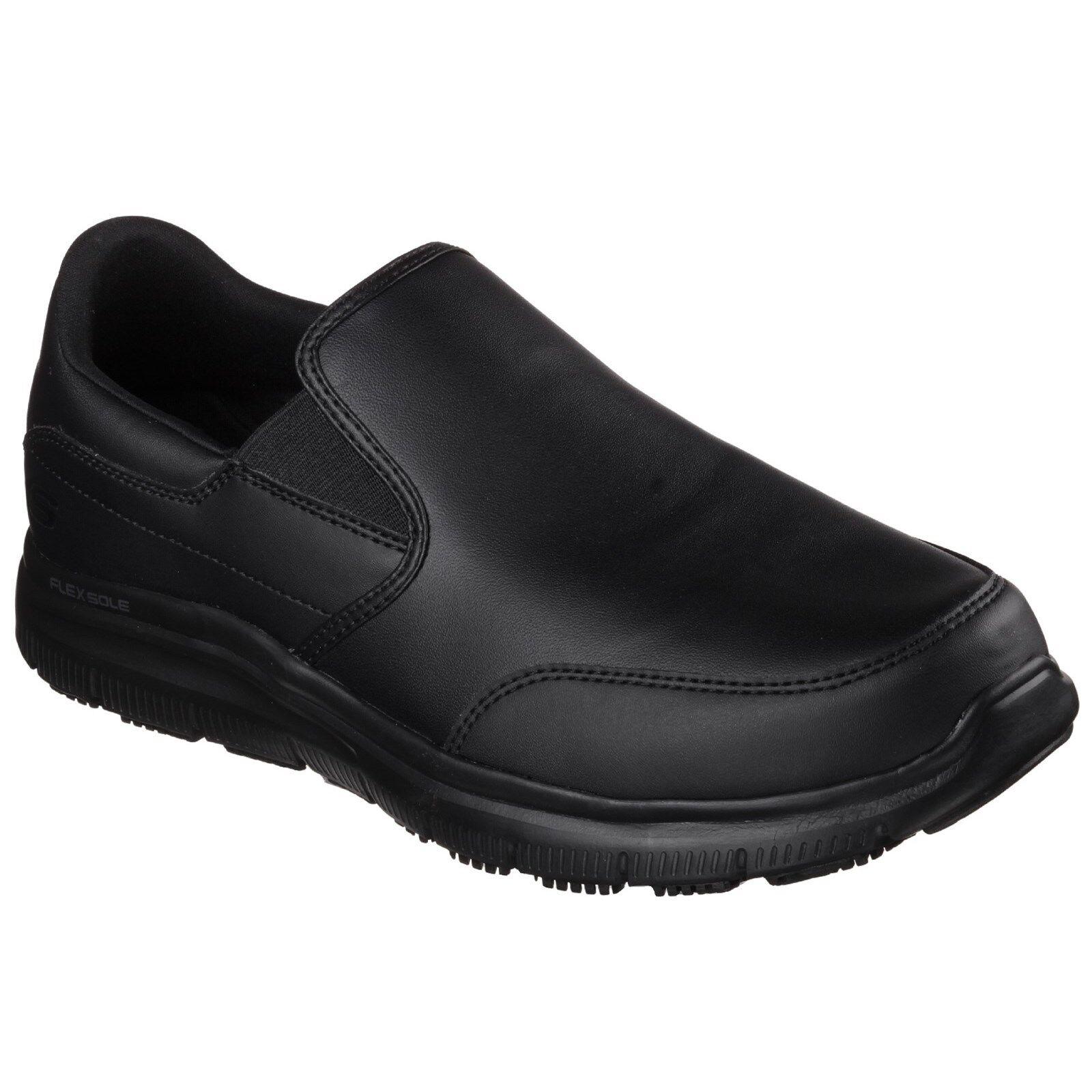 Skechers Flex Advantage Bronwood Lavoro Scarpe Antiscivolo Pelle Sneaker Uomo