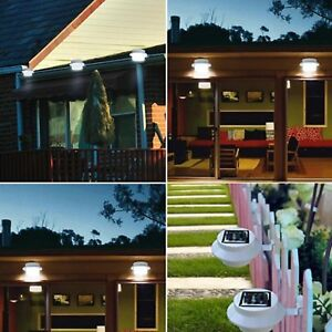4-PCS-Solar-Light-Lamp-Powered-Outdoor-Garden-Yard-Wall-LED-Light-Gutter-Fence