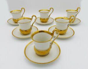6-Antico-Tazze-Caffe-con-Alta-Henkel-di-Rosenthal