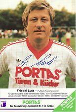 Autogramm AK Friedel Lutz FC Bad Vilbel Eintracht Frankfurt 1860 München DFB POR