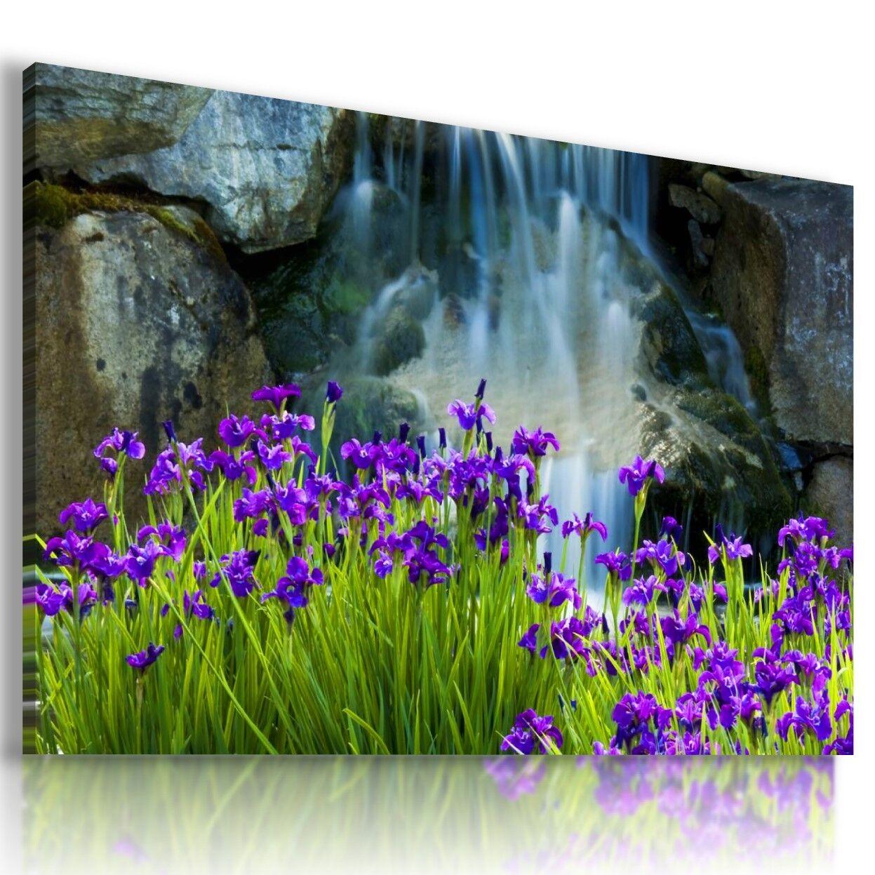 Viola Fiori A Cascata A cascata a muro ARTE foto LARGE L482 mataga.