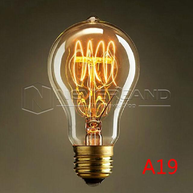 E27 40W Suspension Tube Vintage lampadario Edison Carbon Lampadina Filament Bulb
