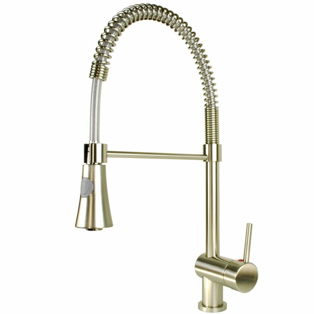 Gastro Spirale Edelstahl Küchenarmatur Wasserhahn für Armatur Küche mit Brause