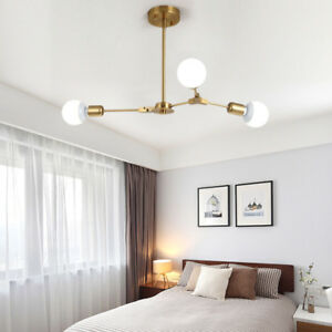 Modern Flush Mount Ceiling Light Gold