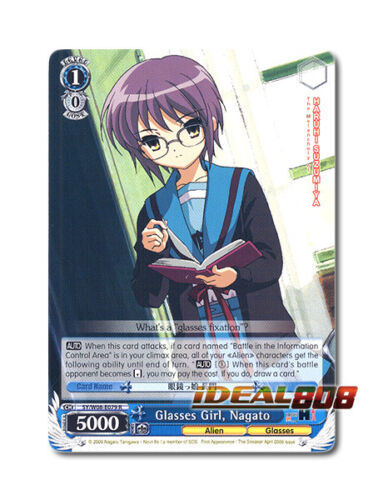 Nagato Weiss Schwarz Haruhi x 1 Glasses Girl SY//W08-E079 R English