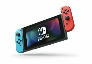 Nintendo HAC-001 Switch Gaming Console with Neon Blue and Neon Red Joy-Con
