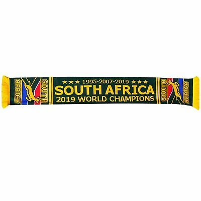 100/% Acrylic South Africa Springboks 2019 Rugby World Cup Winners Scarf
