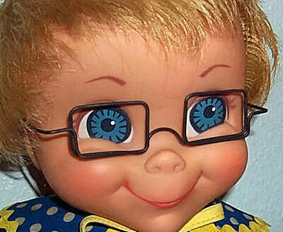 "Replace Mrs Beasley Glasses 4/"" Square Wire Eyeglasses For Doll Not included"