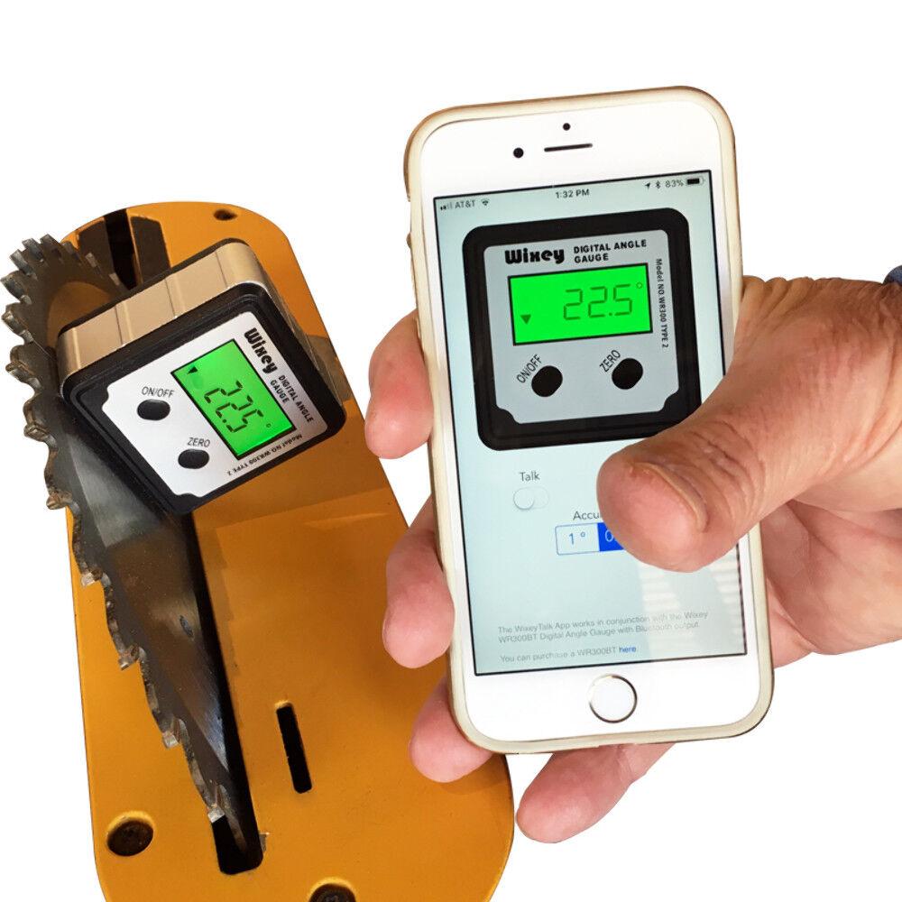 Wixey Wr300bt Smart Digital- Winkel Messgerät Neigungsmesser - Blautooth - Talk