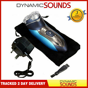 Dynamic-Mens-Electric-Shaver-Cordless-Rechargeable-Washable-3-Heads-amp-Pouch