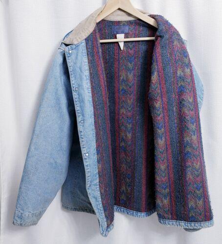 Vtg Oshkosh Men's Blanket Lined Denim Chore Barn J