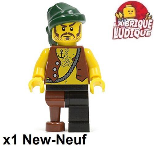 Lego Figurine Minifig Pirates jambe bois ancre tatoo bandana scowl pi110 NEUF