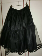 50er Jahre Petticoat Trachten Unterrock Schwarz Dirndl 67 cm 42 44 46 48 50 Neu