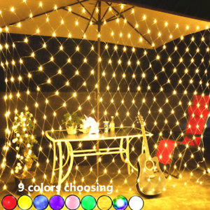 UK-LED-String-Fairy-Lights-Net-Mesh-Curtain-Xmas-Wedding-Party-Outdoor-Home-Lamp