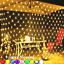 UK-LED-String-Fairy-Lights-Net-Mesh-Curtain-Xmas-Wedding-Party-Outdoor-Home-Lamp thumbnail 1