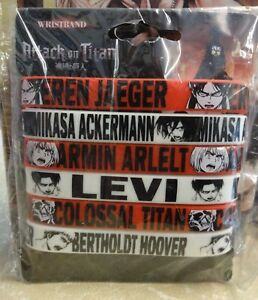 Attack-On-Titan-Official-Manga-amp-Anime-Wristbands-Pack-of-Six