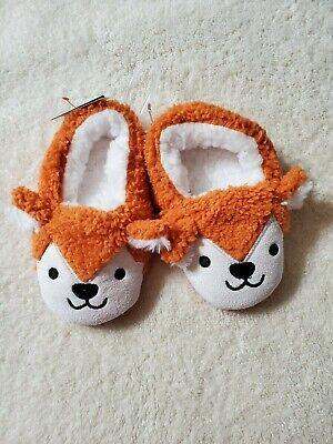 Cat /& Jack Unisex Baby /& Unisex Toddler Ballet Fox Slippers Orange