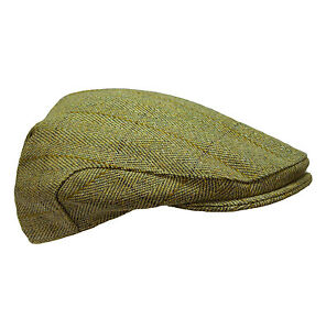 54abff8ec11 Mens Derby Tweed Wool Country Flat Cap Hat for Shooting   Hunting ...