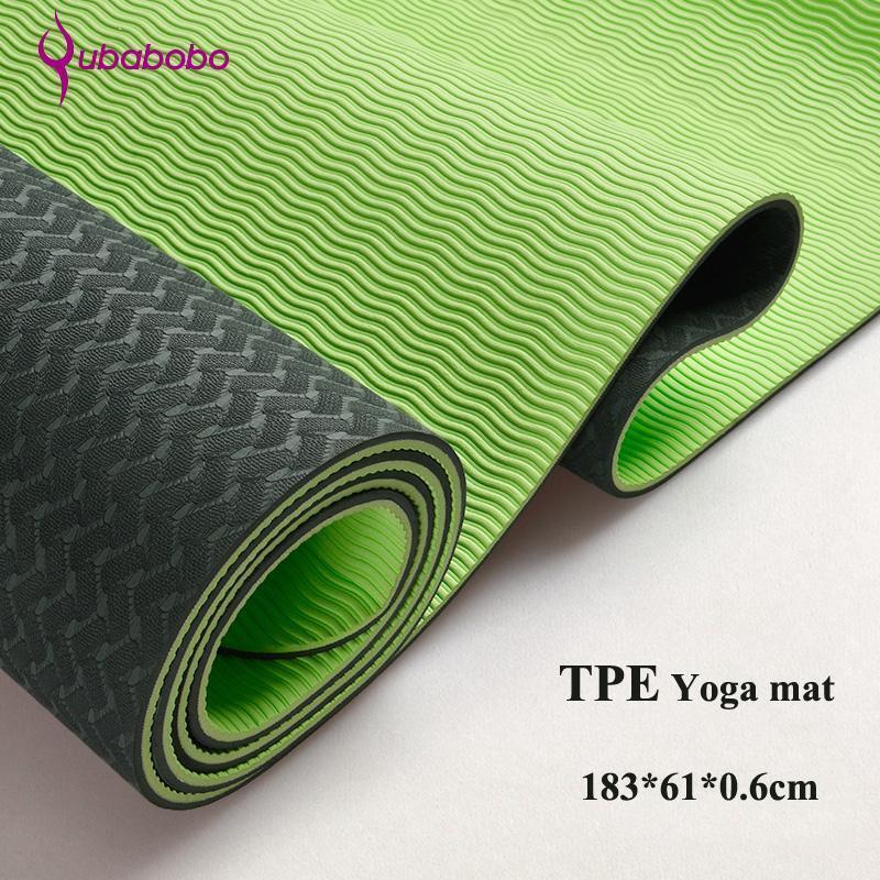 6MM TPE Non-slip Yoga Mats For Fitness Tasteless Brand Pilates Mat 8color Gym Ex