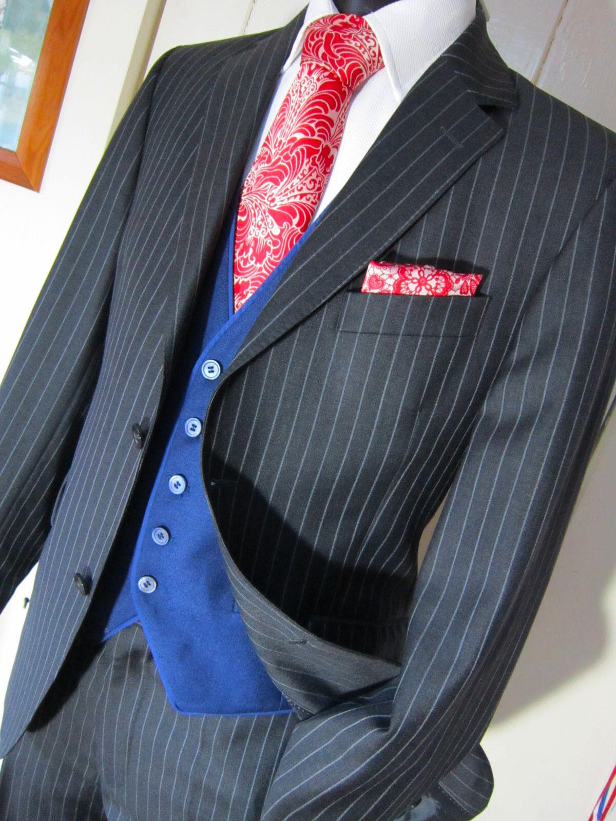 Austin Reed London Charcoal Pinstripe Suit W 34 L 32 Pristine