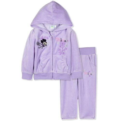 Disney Minnie Mouse Baby Girls Tracksuit Outfit Clothes Set VELVET 3-24 Months