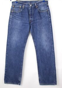 Levi-039-s-Strauss-amp-Co-Hommes-501-Jeans-Jambe-Droite-Taille-W33-L30-AVZ192