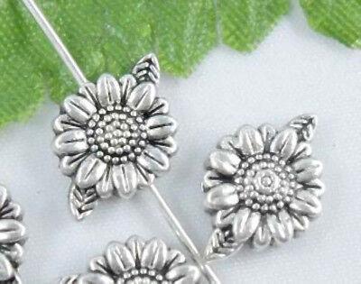 Free Ship140Pcs Tibetan Silver flower Spacer Beads 13X9mm
