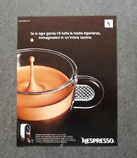 H520 - Advertising Pubblicità -2013- NESPRESSO , CREMA DI CAFFE'