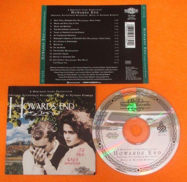 CD SOUNDTRACK HOWARDS END Richard Robbins 1992 US NIMBUS NI 5339 no mc lp (OST6)