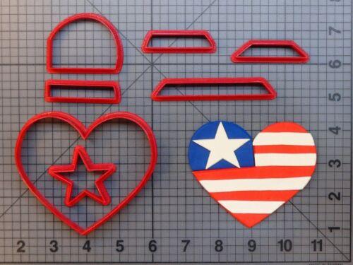 USA Heart 266-982 Cookie Cutter Set