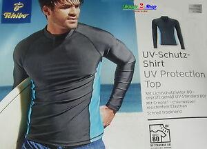 TCM Tchibo UV-Schutz-Shirt UPF 80 Tauchshirt Surfshirt Badeshirt Strand Unisex