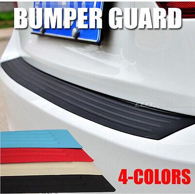 1Pc Car Rear Bumper Sill Protector Plate Rubber Cover Guard Back Door Boot Trim