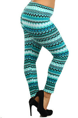 Womens Panki Multicolored Plus Size Leggings 1X 2X