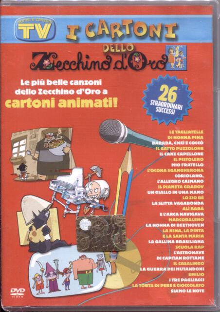 I CARTONI DELLO ZECCHINO D'ORO 3 - DVD NUOVO E SIGILLATO, 26 CANZONI, RARO!
