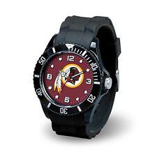 Washington Redskins NFL Football Team Men's Black Sparo Spirit Watch