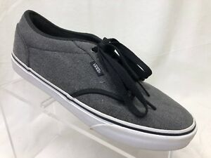 Image is loading VANS-Atwood-Charcoal-Gray-Canvas-Skateboarding-Shoes-Men- 598ccb76dd
