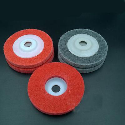 "5pcs Dia 3.9"" 100mm Nylon Buffing Angle Grinder Wheel Felt Polishing Disc Pad"
